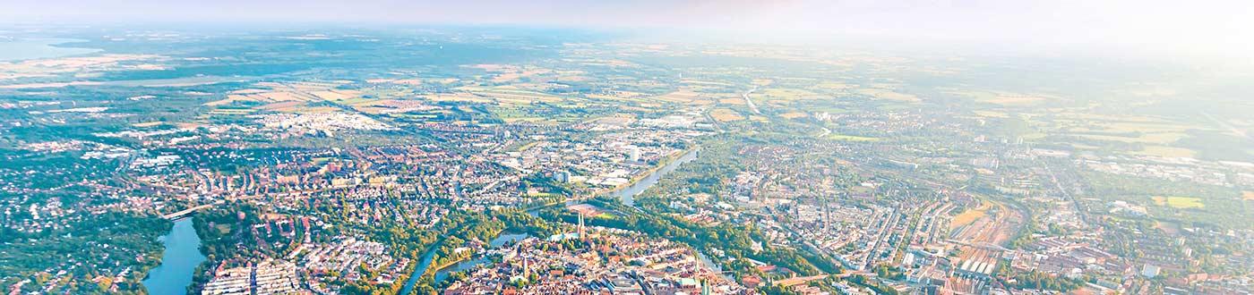 das immo büro Makler Lübeck – Luftbild Lübeck