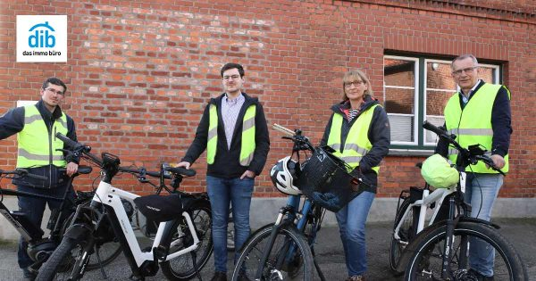 das immo büro | Makler Lübeck auf E-Bikes
