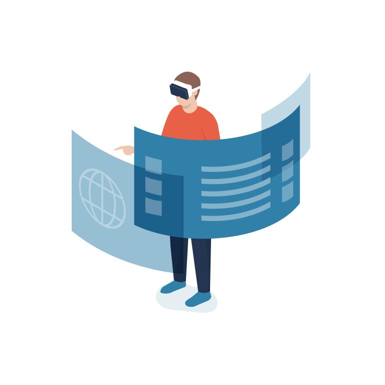 das immo büro Makler Lübeck – Illustration Datenraum